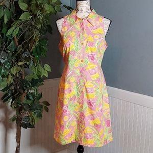 Lily Pulitzer Vintage Juice Bar Print Dress
